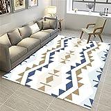 CHAI Wohnzimmer Dekorieren Teppich Bodenbelag Nordic 3D Printing Einfachen Stil Geometrische Muster Rechteckigen Teppich Schlafzimmer Rutschfeste Teppich Kinderteppich Teppich Teppiche