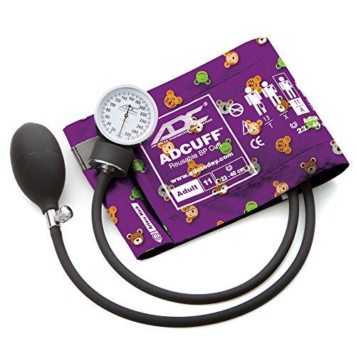 ADC 760-11AAD prosphyg Pocket Aneroid Sphygmomanometer with adcuff Nylon Blutdruckmanschette, Erwachsene, Tiere Print - Blutdruckmanschette Erwachsene