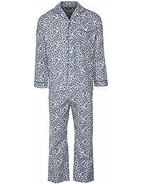 Champion Pyjama chaud en coton brossé Long pour homme Motif cachemire