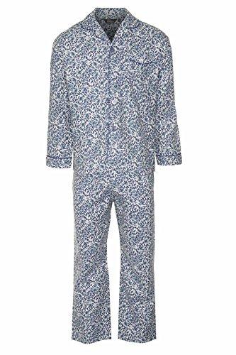 Champion Paisley Herren-Pyjama Nachtwäsche, angeraute Baumwolle Blau - Blau