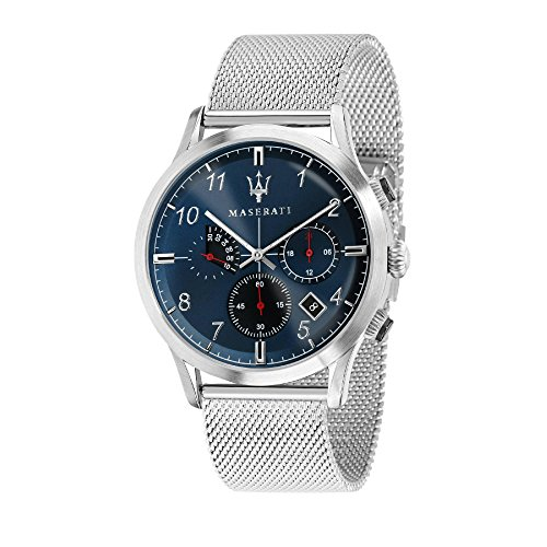 MASERATI Mens Chronograph Quartz Watch with Stainless Steel Strap R8873625003