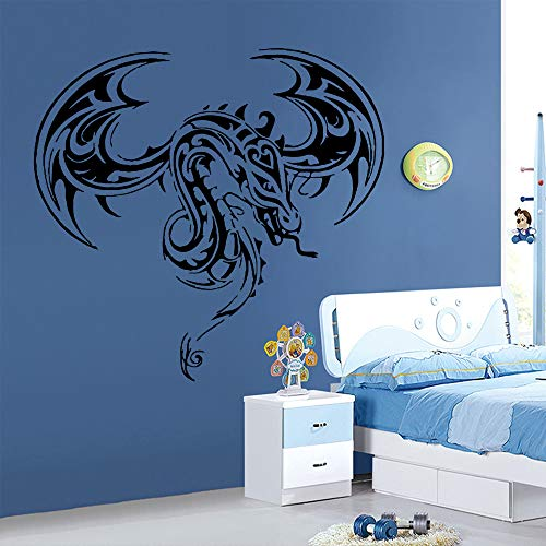 WWYJN Exquisite Dragon Wall Sticker for Boys Room Decoration Accessories Sticker Mural Vinyl Wallpaper Home Decor Wall Decals red L 43cm X 45cm