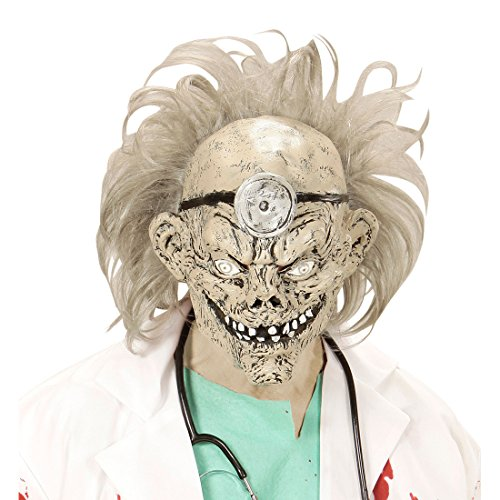 Latexmaske Psycho Zombiemaske Arzt Doktor Horrormaske Zombie Maske Halloween Kostüm Zubehör Erwachsene Gruselmaske Halloweenmaske Krankenhaus (Doktor Halloween Kostüm Zubehör)