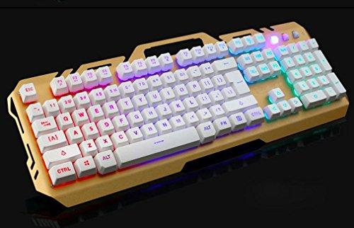 S keyboard Mechanischer Griff Schwarz Orange Licht Spieltastatur,C