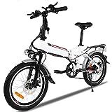 Lonlier bicicletta pedalata assistita pieghevole Mountain Bike 250W con 21 velocità Batteria al litio: 36V