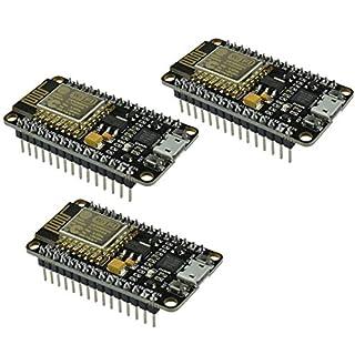 IZOKEE NodeMCU Lua Amica Module ESP8266 ESP-12E WiFi Internet Development Board Wireless Modul Mit CP2102 Chip Arduino Kompatibel (3X NodeMCU Amica)