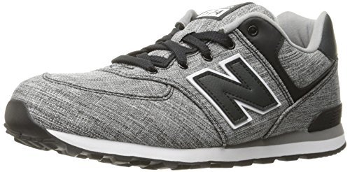 New Balance 574 High Visibility, Baskets Basses Mixte Enfant Multicolor (Black)
