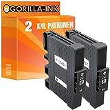 Gorilla-Ink® 2 Gel-Druckerpatronen XXL kompatibel für Ricoh GC-41 Black Nashuatec SG 3100 Series SG-K 3100 DN SG 3110 DNW SG 3110 DN