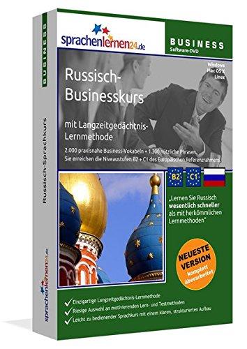 Russisch-Businesskurs mit Langzeitgedächtnis-Lernmethode von Sprachenlernen24: Lernstufen B2+C1. Russisch lernen für den Beruf. Software PC CD-ROM für Windows 10,8,7,Vista,XP/Linux/Mac OS X