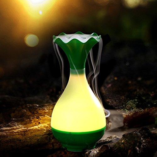 Usb night light luftbefeuchter,Silent mini aroma luftbefeuchter nacht licht auto für home-office desktop-grün