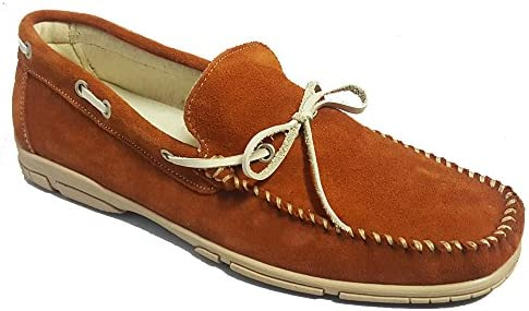 Zapatos Mocasines de Piel Ante - Hecho en España - 3192