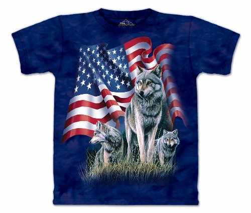 Wolf Flag - Large Adult (Adult Flag T-shirt)