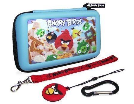 Angry Birds 3d Gamer neue Tragetasche für Nintendo Dsi, 3ds &Karabiner, Dreieckkopf, 4 Stück (Ear-bud-tragetasche)