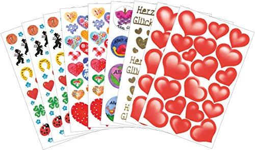 Z-Design 59818 - Conjunto de pegatinas creativas, varios motivos 280 adhesivos