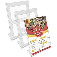 Kurtzy Pack de 3 A4 Soporte para Carteles - 30 x 21,5cm para promociones, restaurantes, marcos de fotos, documentos y más