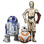 Kotobukiya's lineup of amazing figures from STAR WARS Episode VII: The Force Awakens continues with fan favorites C-3PO R2-D2 and BB-8! Artoo and Threepio are updated to reflect their appearance in the latest film. These 1/10 scale figures assemble e...