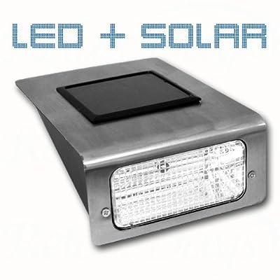 Solar Wandleuchte Aluminium von Relaxdays - Lampenhans.de