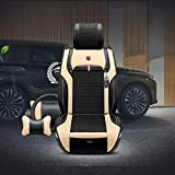 GXLXY Auto-Sitzbezüge Leder-Optik, Universal Auto-Sitzschoner Set für Sommer & Winter,Kunstleder Auto-Schonbezüge für die Vordersitze & Rückbank,L4