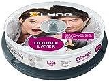 xlyne DVD+R DL Double Layer Rohlinge (8,5 GB, 8x Speed, 10er Spindel)
