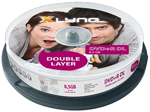 xlyne DVD+R DL Double Layer Rohlinge (8,5 GB, 8x Speed, 10er Spindel) (Dvd-speicherung)