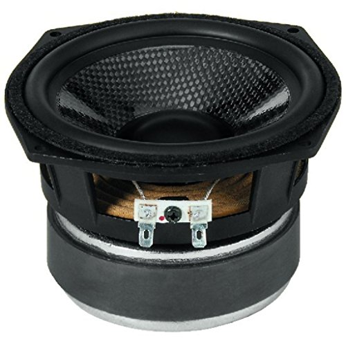 Hochwertigen Hi-Fi Bass-Mitteltöner-Lautsprecher mit Kohlefaser-Membran (80WMAX, 50WRMS, 8Ohm)