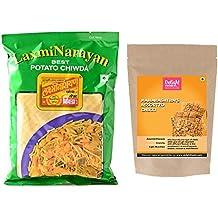 LaxmiNarayan Chiwda Aloo Chiwda, Pune - 500g and Mumbai Assorted Chikki - 200gm