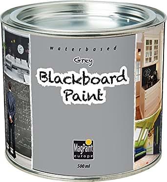 First4magnets MAG2002 MagPaint Peinture de Tableau Noir 0,5 L Gris
