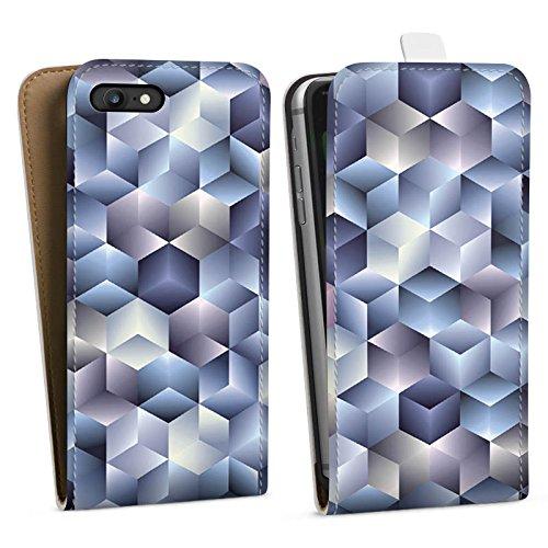 Apple iPhone X Silikon Hülle Case Schutzhülle 3D Illusion Pastell Downflip Tasche weiß
