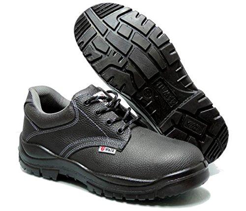 4walk Castaño s3 - Zapatos de Seguridad - Talla 45 - Negro tQuLU0