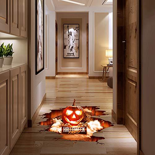 FairOnly Halloween-Aufkleber, 3D-Kürbis-Form, für Fenster, Boden-Aufkleber, Halloween-Dekoration, PVC, Abnehmbarer Aufkleber für Kinder