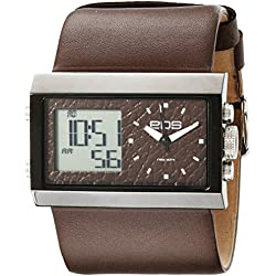 EOS New York Unisex 202SBRN Contrast Analog-Digital Armbanduhr