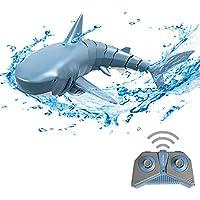 GoolRC Mini RC Tiburón Juguete de Control Remoto Nadar Juguete Bajo el Agua RC Barco Piscina de Juguete de Parodia de Barco de Carreras Eléctricas (Sin Batería)
