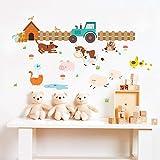 Wall Sticker,Cartoon Cow Farmland Kids Room Pastoral Style Decorative Decal