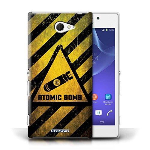 Coque de Stuff4 / Coque pour Sony Xperia M2 / Biohazard Design / Signes de Danger Collection Bombe Atomique