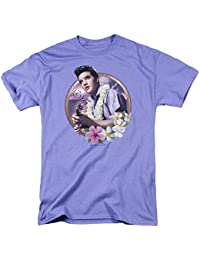 Elvis Presley Luau King Mens Short Sleeve Shirt