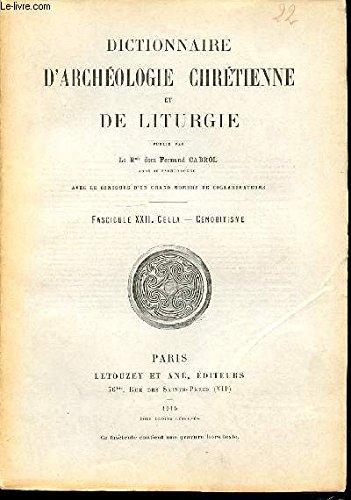 Rme dom cabrol fernand - Dictionnaire d archéologie et de liturgie chrétienne - fascicule xx : cassandre, catéchumenat