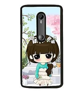 FUSON Designer Back Case Cover for Motorola Moto G3 :: Motorola Moto G (3rd Gen) :: Motorola Moto G3 Dual SIM (Pretty girl design Sweet girl design Wonderful girl design Lovable girl design Baby doll design)