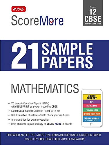 Scoremore 21 Sample Papers Cbse Boards Class 12