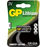 GP Lot de 10 piles Lithium CR123A 3 V GPCR123A