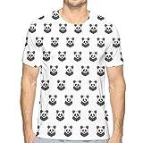 Camisetas Impresas en 3D, patrón de Lindas Mascotas de los Retratos del Oso Panda para niños en Blanco y Negro