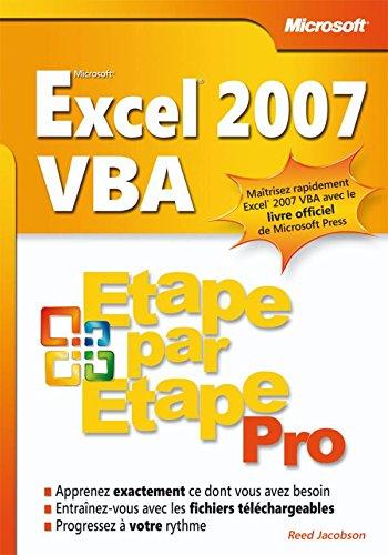 Excel 2007 VBA - Livre+compléments en ligne