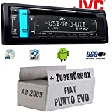 FIAT Punto EVO / 199 - Autoradio Radio JVC KD-R491   CD   MP3   USB   Android   - Einbauzubehör - Einbauset