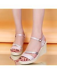 LGK   FA Sommer Damen Sandalen Sommer High Heel mit Wasser Tisch Pailletten  Sandalen Rutschfest Schuhe fdc7656671