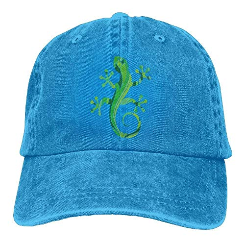 Green Salamander Adjustable Cotton Hat - Womens Denim-baseball-hüte