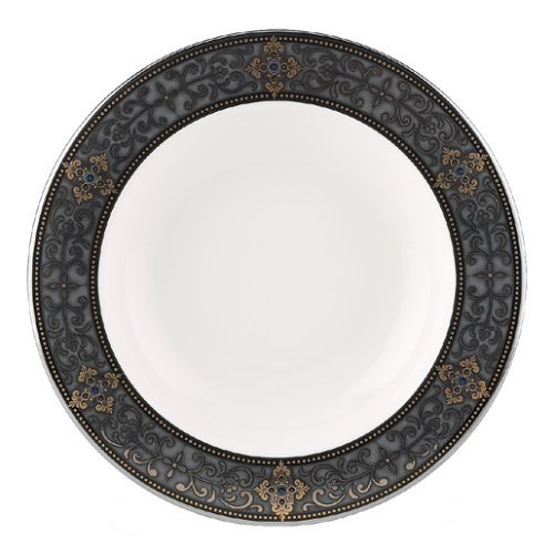 Lenox Vintage Jewel Platinum Banded Bone China Pasta Bowl/Rim Soup by Lenox China Soup Bowl