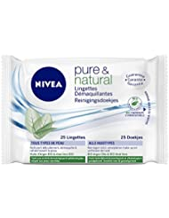Nivea Pure et Natural Lingettes Démaquillantes Biodégradables x 25 - Lot de 2