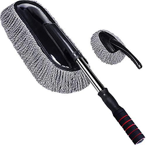 Autowaschbürste Mikrofaser Staubwerkzeug Staubtuch Mopp Reinigungszubeh?r Auto Mopp Grau Eins Gro? Eins Klein-Grau
