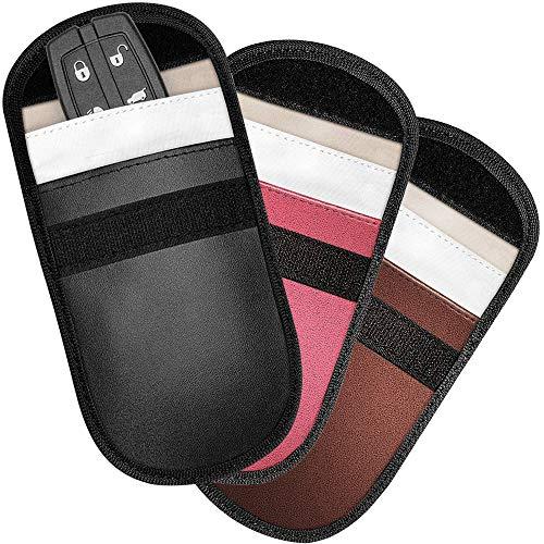 [3 Stücks] Autoschlüssel Schutz Tasche [6 Stücks] Kreditkarten Schutz Tasche LOFTer Strahlenschutz Tasche, Schutz vor RFID / WIFI / GSM / LTE / NFC.
