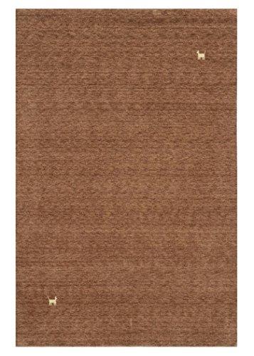 Morgenland Gabbeh Teppich Modern ASTERIA 200 x 80 cm Braun Läufer Handgearbeitet Wollteppich Modern...