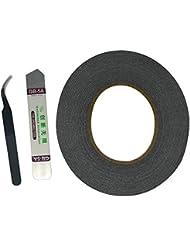 Cinta de la Etiqueta Engomada Adhesiva 2mm para Uso en la Reparación del Teléfono Celular Como Herramienta Palanca Acero Ultrafino Pinzas